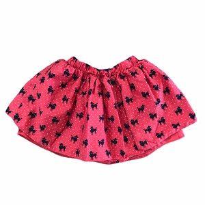 Children's Place girls red polka dot dog skirt